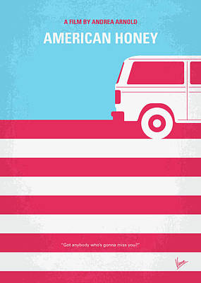 No786 My American Honey Minimal Movie Poster Poster