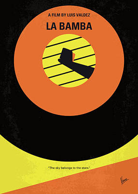 No797 My La Bamba Minimal Movie Poster Poster by Chungkong Art