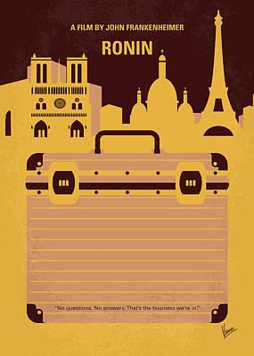 No801 My Ronin Minimal Movie Poster Poster by Chungkong Art