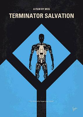 No802-4 My The Terminator 4 Minimal Movie Poster Poster