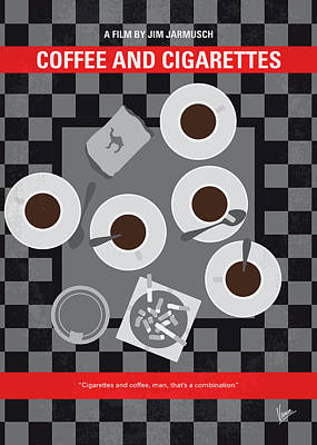 No808 My Coffee And Cigarettes Minimal Movie Poster Poster by Chungkong Art