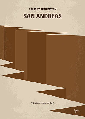 No810 My San Andreas Minimal Movie Poster Poster