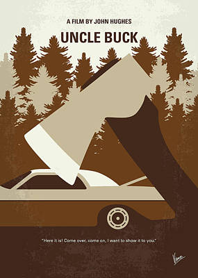 No818 My Uncle Buck Minimal Movie Poster Poster