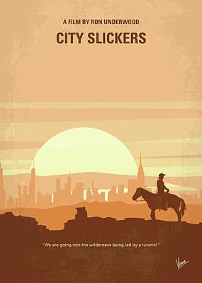 No821 My City Slickers Minimal Movie Poster Poster