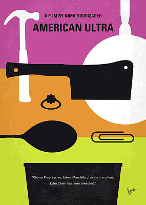 No827 My American Ultra Minimal Movie Poster Poster