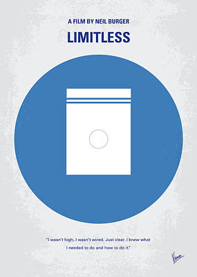 No828 My Limitless Minimal Movie Poster Poster