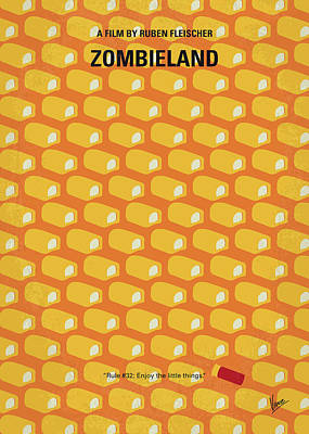 No829 My Zombieland Minimal Movie Poster Poster