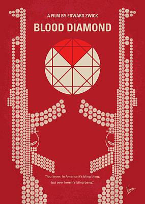 No833 My Blood Diamond Minimal Movie Poster Poster