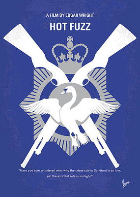 No847 My Hot Fuzz Minimal Movie Poster Poster