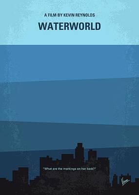 No857 My Waterworld Minimal Movie Poster Poster