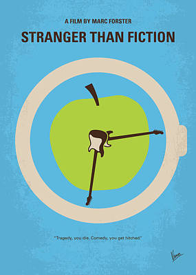 No868 My Stranger Than Fiction Minimal Movie Poster Poster