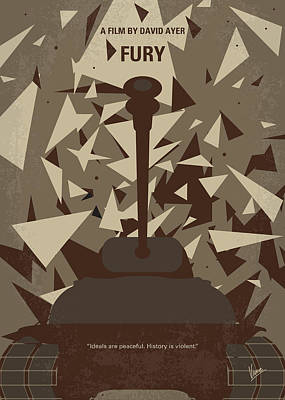 No885 My Fury Minimal Movie Poster Poster