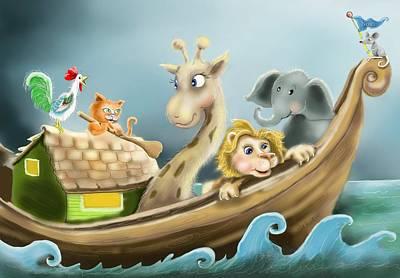 Noah's Ark Poster by Hank Nunes