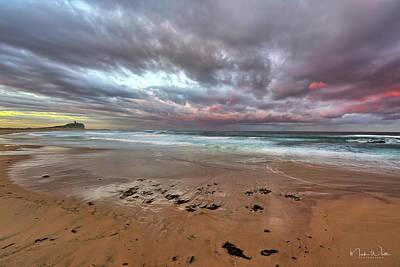 Nobbys Beach At Sunset Poster by Mark Whitt