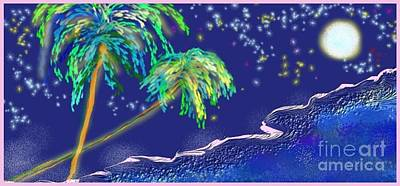 Poster featuring the painting Noche Tropical by The Art of Alice Terrill