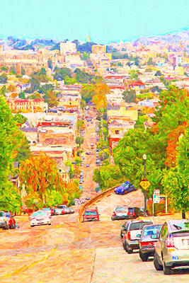 Noe Street San Francisco Poster by Wingsdomain Art and Photography