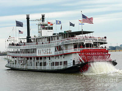 Nola Natchez Riverboat Poster