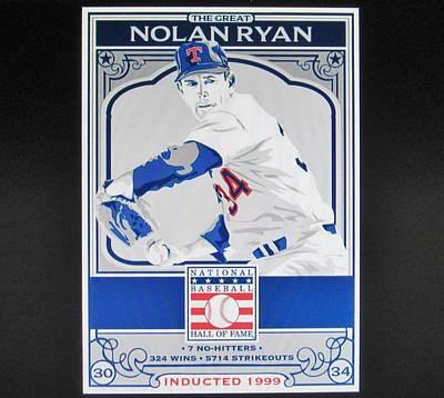 Nolan Ryan Texas Rangers Poster
