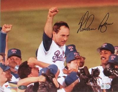 Nolan Ryan Texas Rangers Famed No Hitter Poster