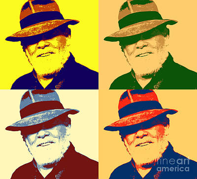 Nolte In Fedora Pop Art Poster by Pd