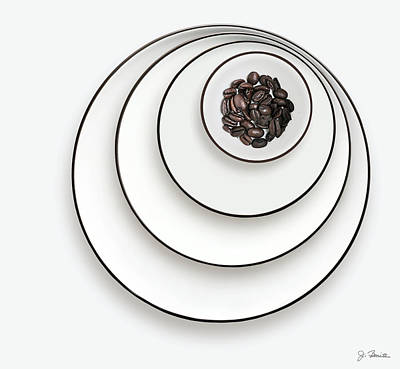 Poster featuring the photograph Nonconcentric Dishware And Coffee by Joe Bonita