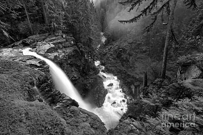 Nooksack Falls Landscape - Back And White Poster by Adam Jewell