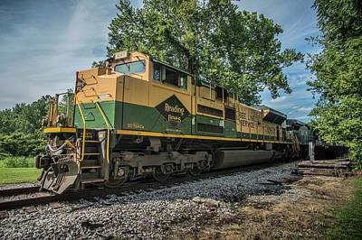 Norfolk Southern Ns 1067 At White River Bridge Petersburg In Poster by Jim Pearson