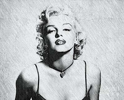 Norma Jeane Mortenson, Aka Marilyn II Poster by Al Bourassa