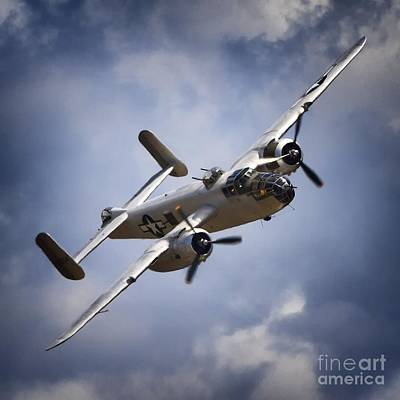 Pacific Princess North American B-25 Mitchell Silver Blue Poster by Gus McCrea