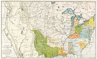 North American Indian Tribes, 1833 Poster