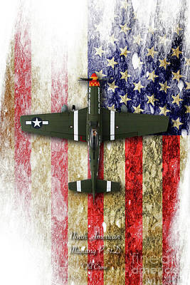 North American P-51 Mustang 'old Crow' Poster by J Biggadike