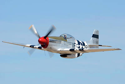 North American P-51d Mustang Nl5441v Spam Can Valle Arizona June 25 2011 1 Poster by Brian Lockett
