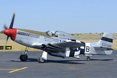 North American P-51d Mustang Nl5441v Spam Can Valle Arizona June 25 2011 3 Poster by Brian Lockett