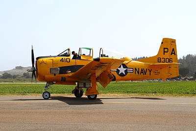 North American T28 Trojan Us Navy Aircraft 7d15808 Poster by Wingsdomain Art and Photography