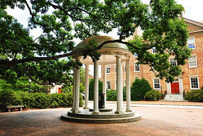 North Carolina A Student's View Of The Old Well And South Building Poster by Replay Photos