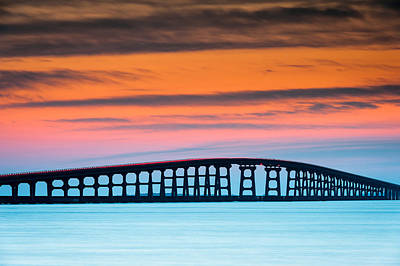 North Carolina Outer Banks Herbert C. Bonner Oregon Inlet Bridge Poster by Mark VanDyke