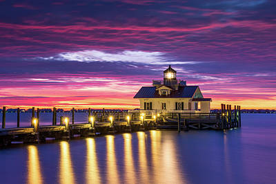 North Carolina Outer Banks Lighthouse Manteo Obx Nc Poster by Dave Allen