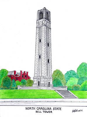 North Carolina State Poster by Frederic Kohli