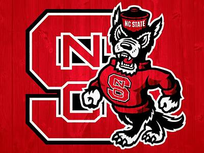 North Carolina State Wolfpack Barn Door Poster by Dan Sproul