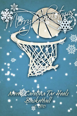 North Carolina Tar Heels Christmas Card 2 Poster