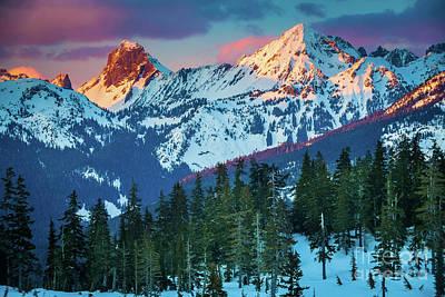 North Cascades Sunset Poster