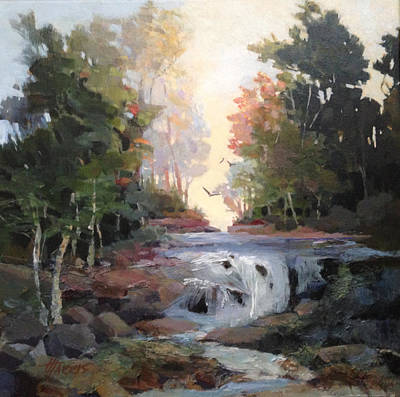 Poster featuring the painting North Creek ...revisited by Helen Harris