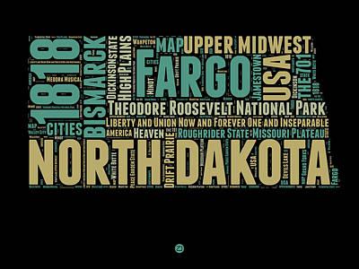 North Dakota Word Cloud 1 Poster