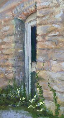 Poster featuring the pastel North Hill Alley Door by Rebecca Matthews