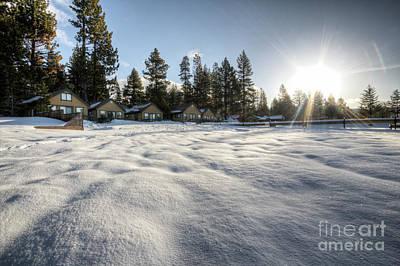 North Lake Tahoe Beach Snow Poster