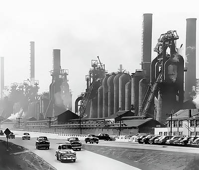 North Side Steel Works - Pittsburgh  C. 1954 Poster