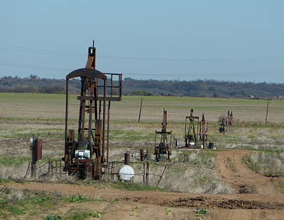 North Texas Shallow Oil Field Poster