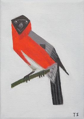 Northern Bullfinch Poster by Tamara Savchenko