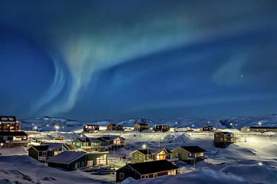 Northern Lights Over Ilulissat - Greenland Poster by Joana Kruse