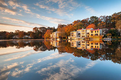 Northern Virginia Lakefront Townhomes Poster by Mark VanDyke